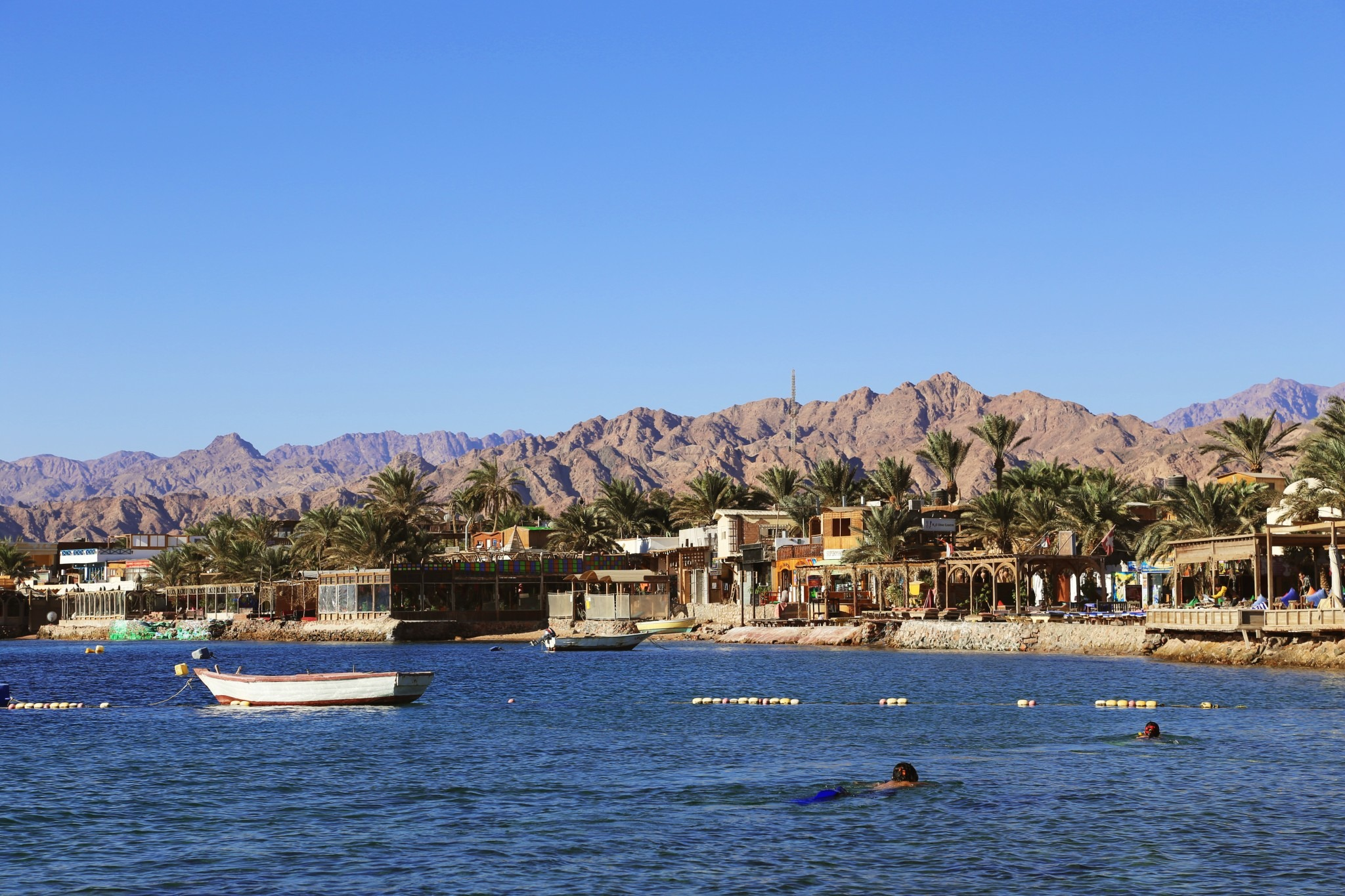 city of dahab viewed from the water