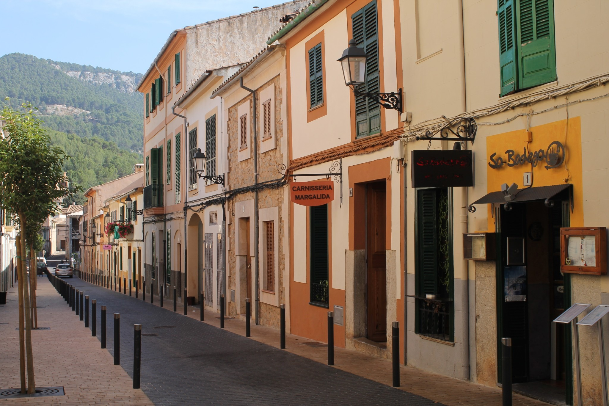 village street on Mallorca