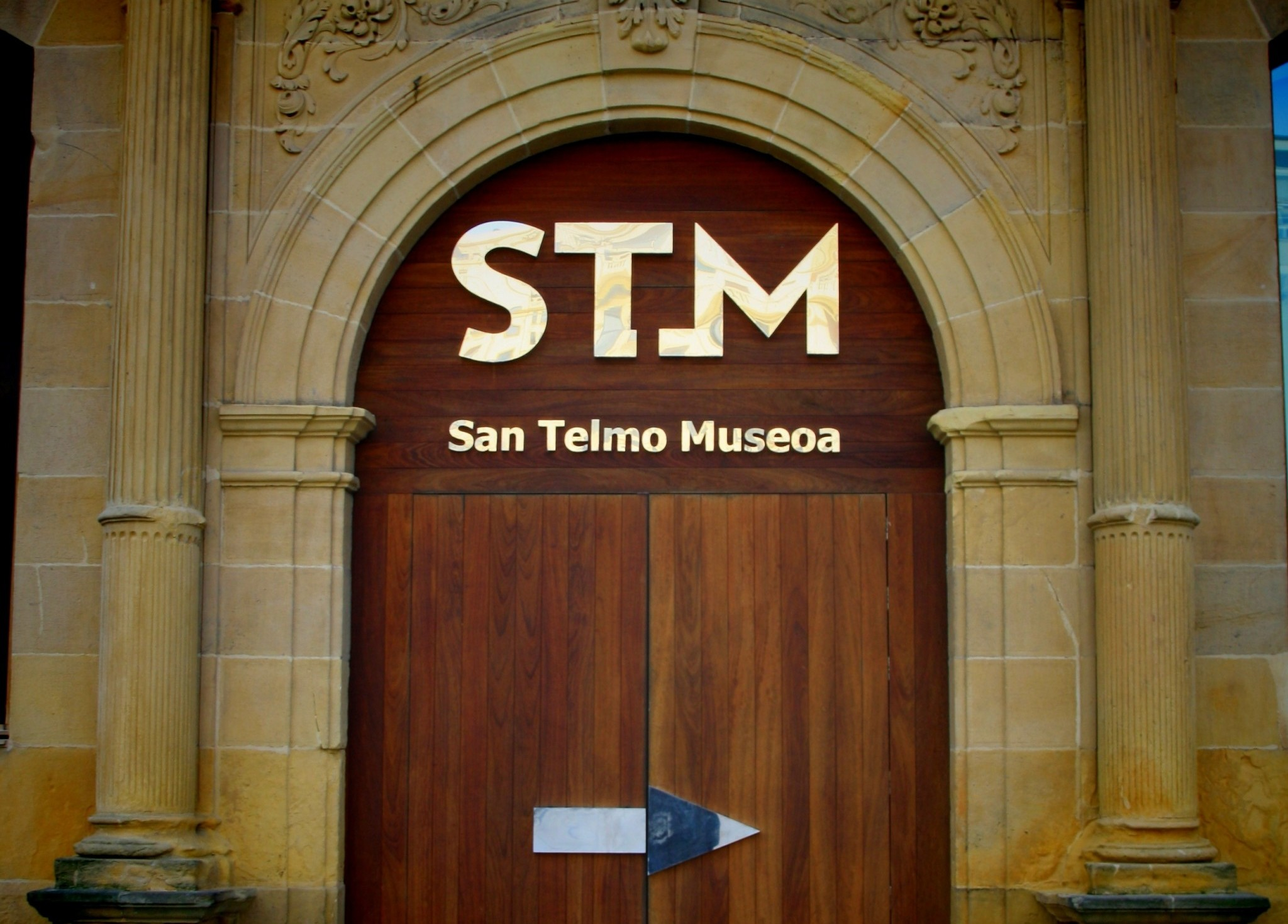 doorway to museum in san sebastian