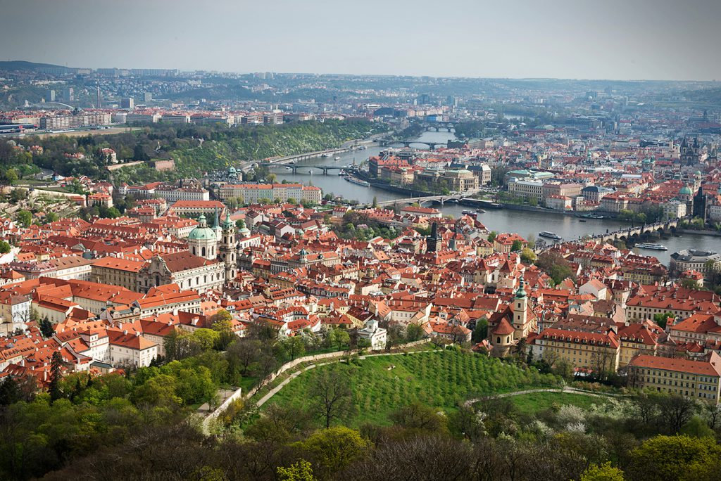 skyline of Prague