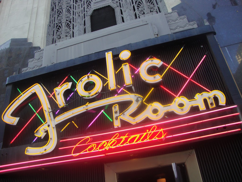 neon sign at the Frolic Room bar