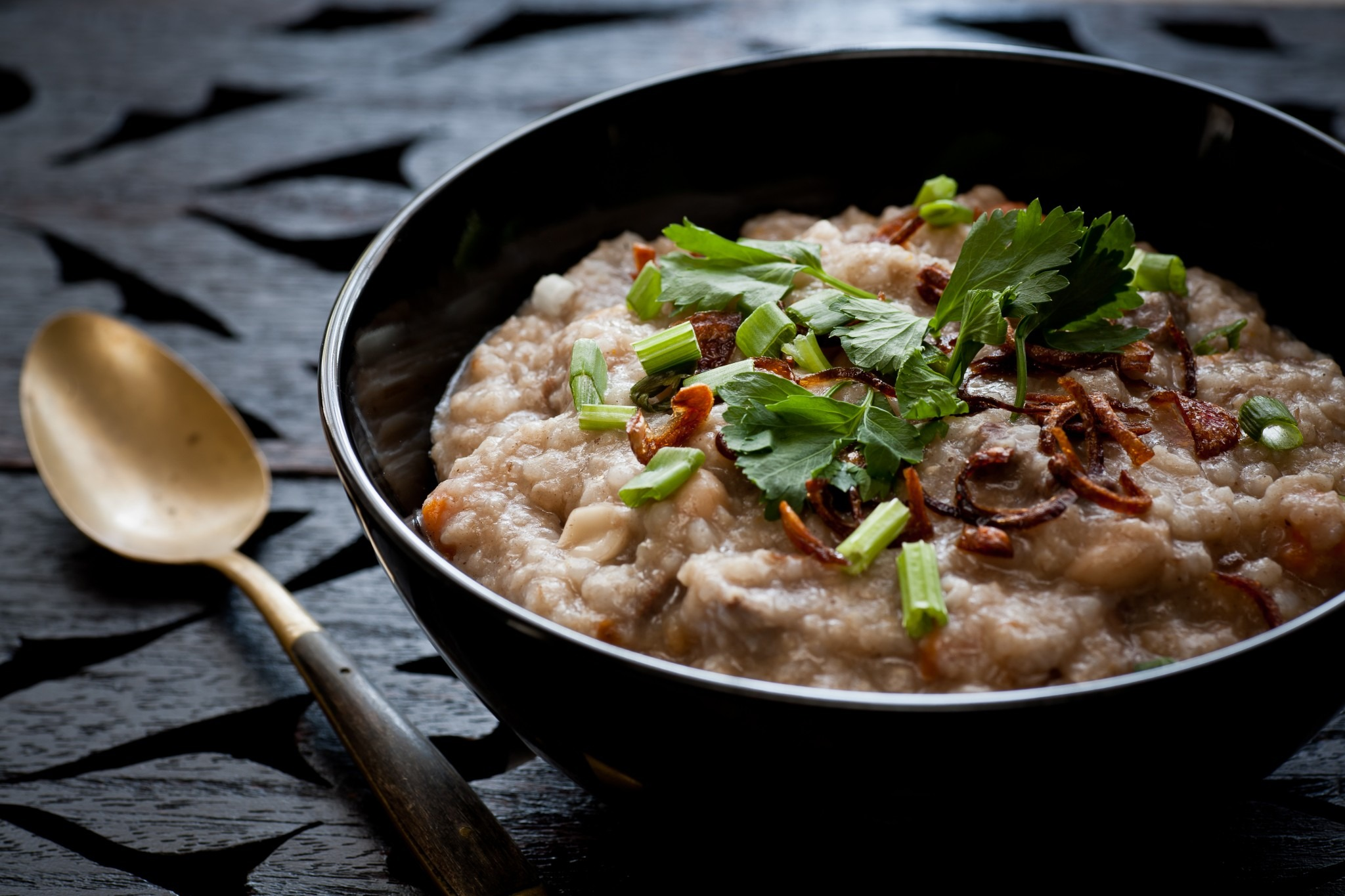 bowl of Malaysian congee