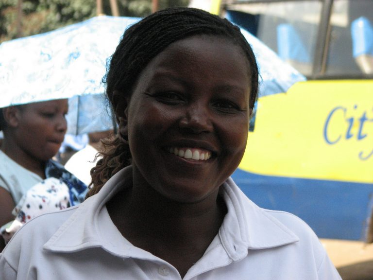 woman smiling at the camera in Nairobi