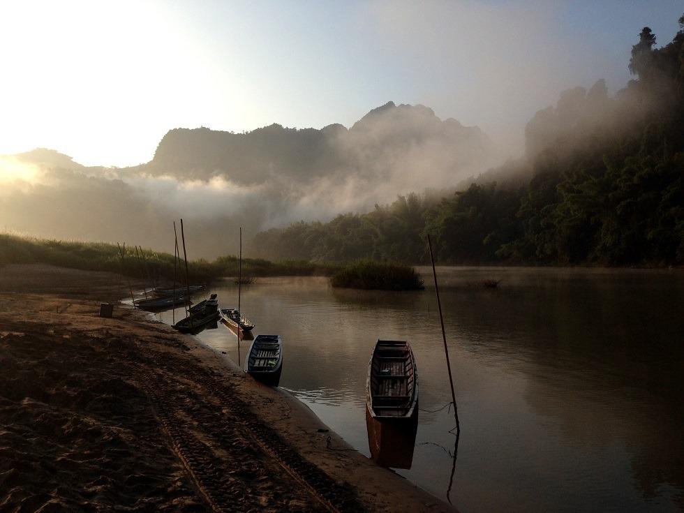 River scene Luang Prabang