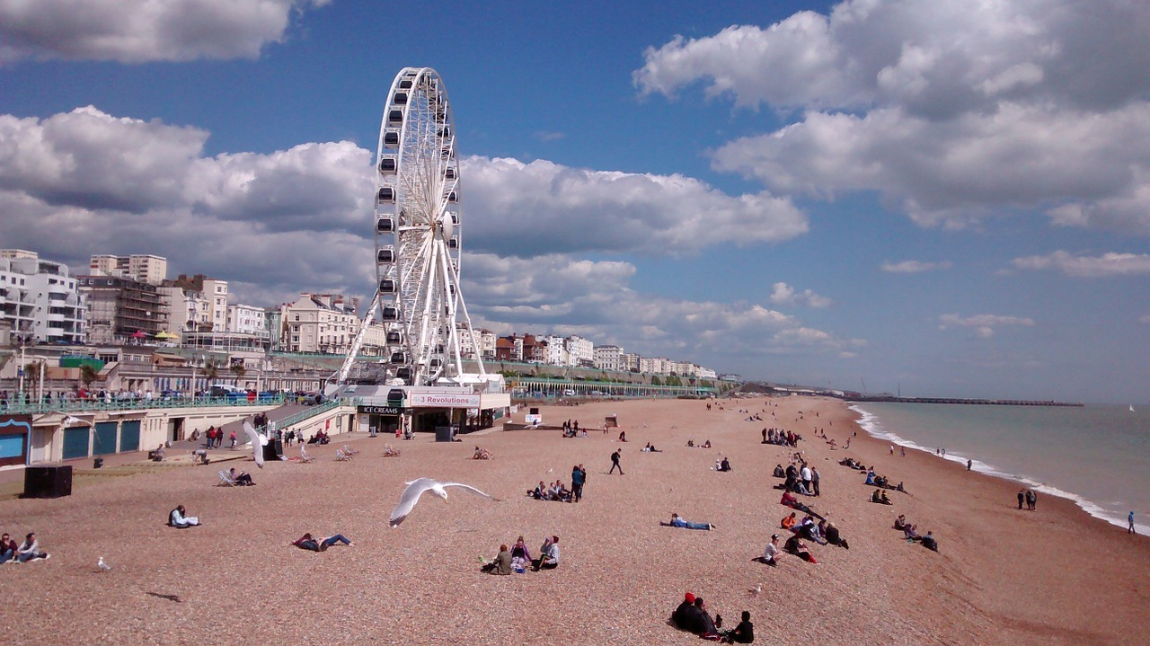 Beach and pier in Brighton