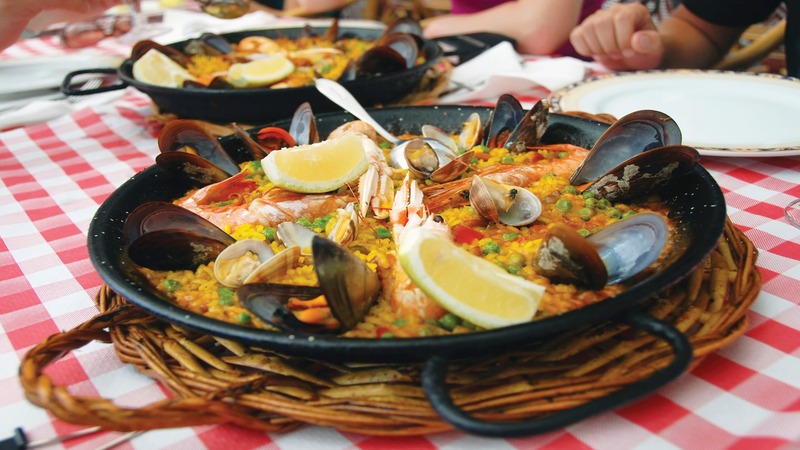 pan of paella