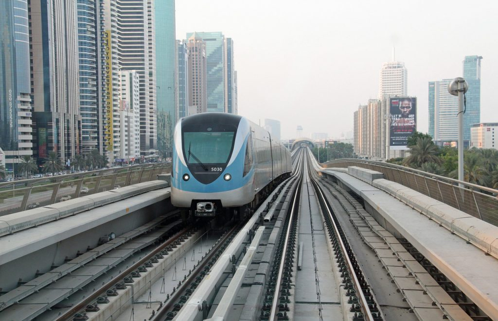 Dubai subway train