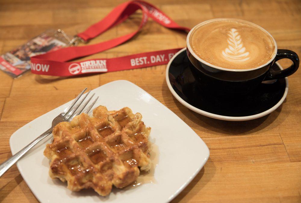 waffle and a coffee