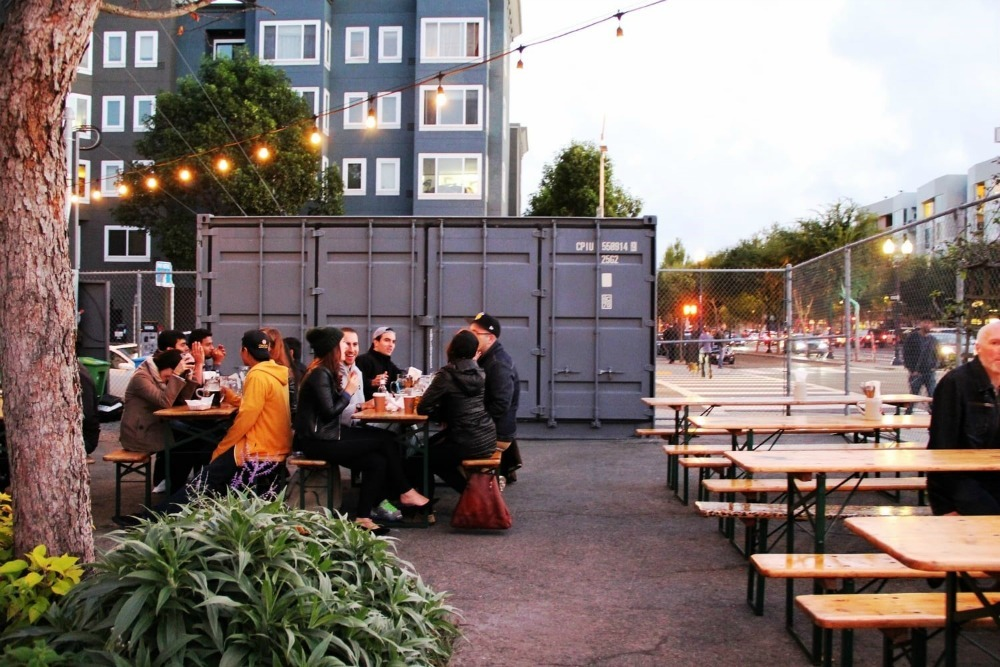 beer garden patio in San Francisco