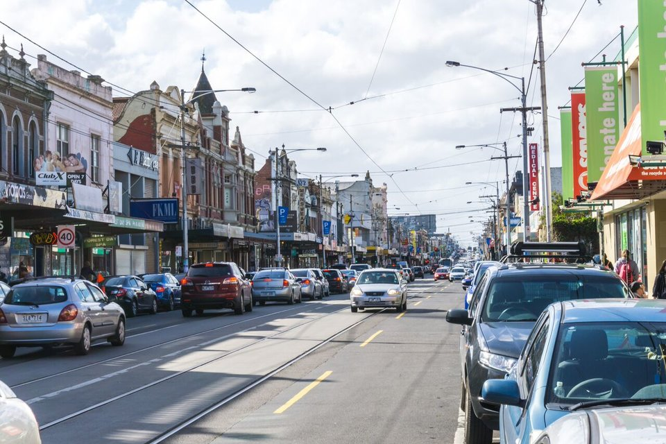 a street in Brunswick, Melbourne