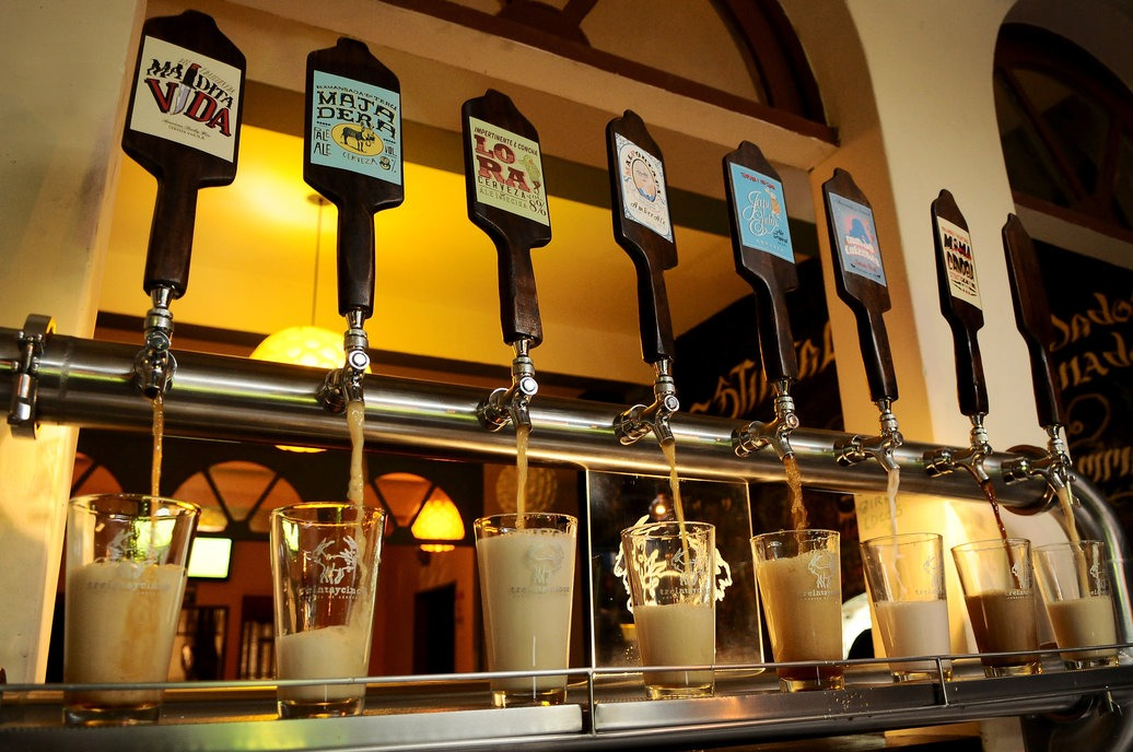 craft beer taps in San Jose