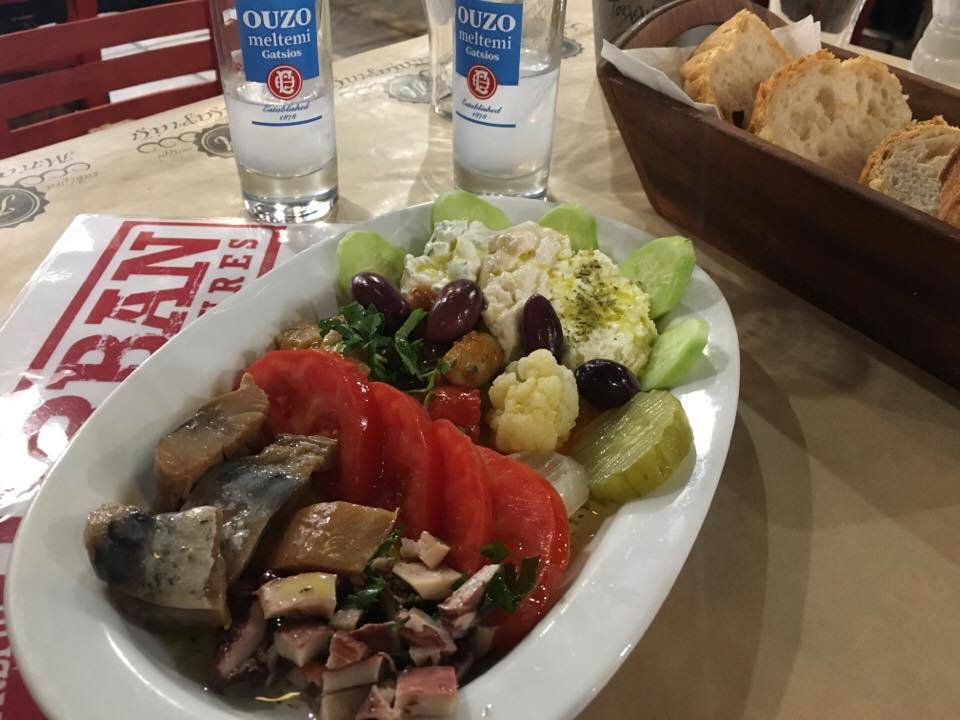 platter of appetizers in Thessaloniki