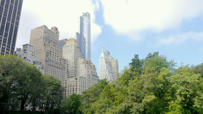 skyscrapers over Central Park in NYC