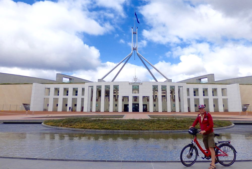 parliament building in Canberra