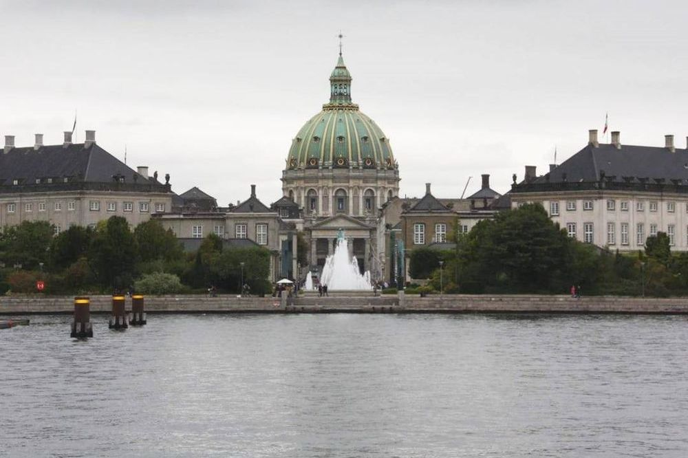 exterior of church and palace in Copenhagen