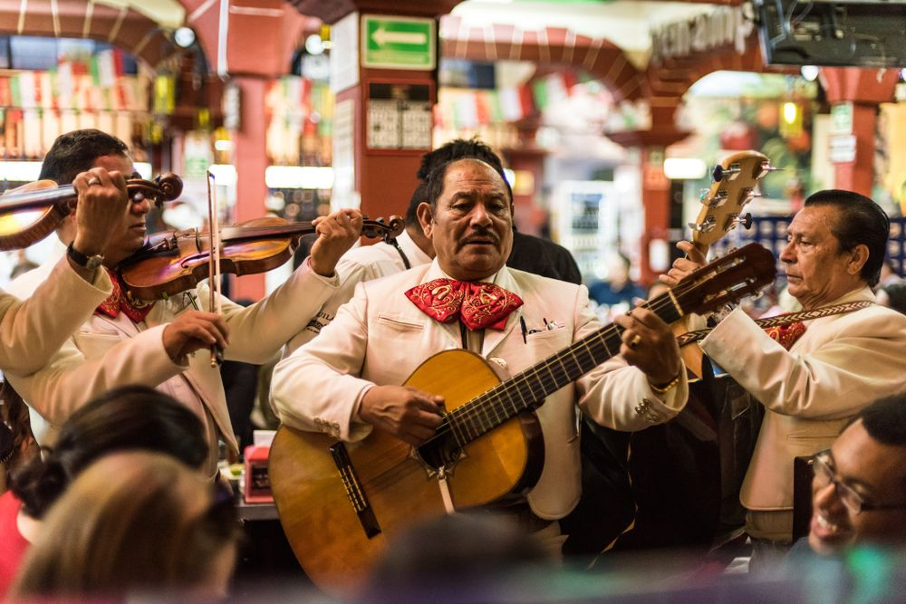 a Mariachi band in Mexico city