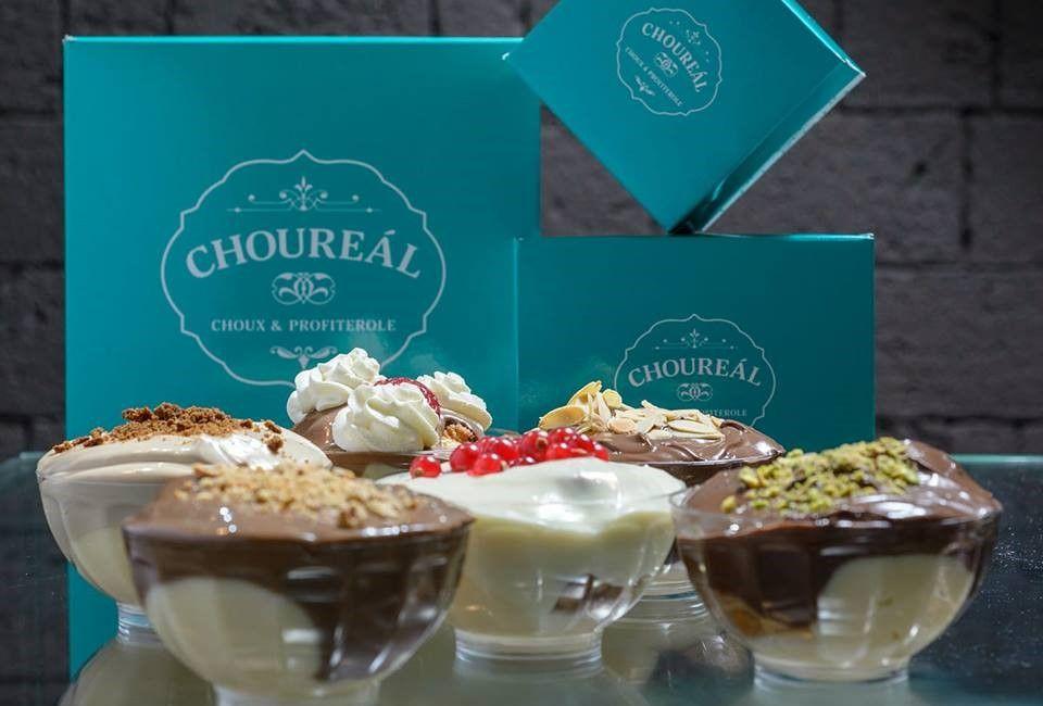 bowls of desserts