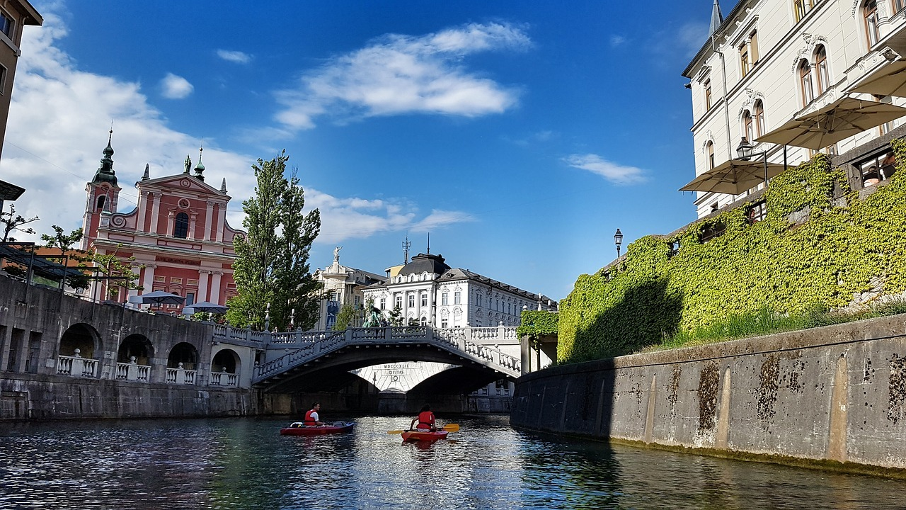 River in Ljubljana