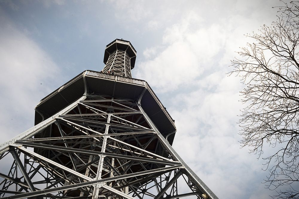 Petřín Lookout Tower does look like a smaller Eiffel Tower | Photo by Prague Urban Adventures