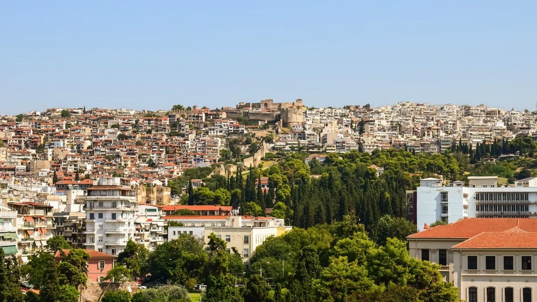 Scenic views over Thessaloniki