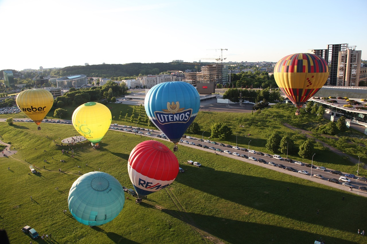 Hot air ballooning in Vilnius