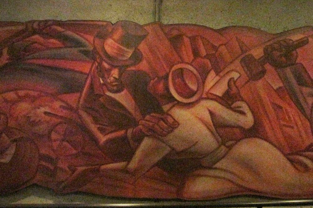 mural of American history