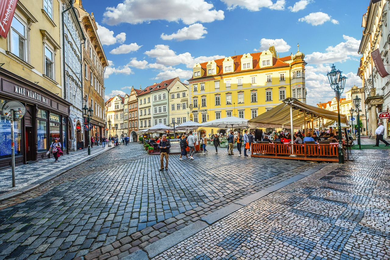 Old Town Prague during the day