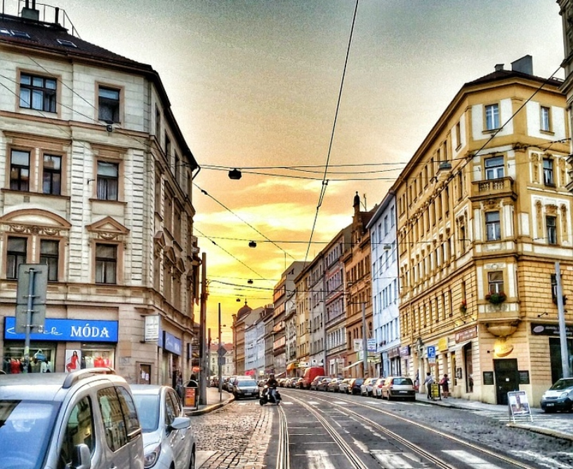 Street in Holešovice, Prague