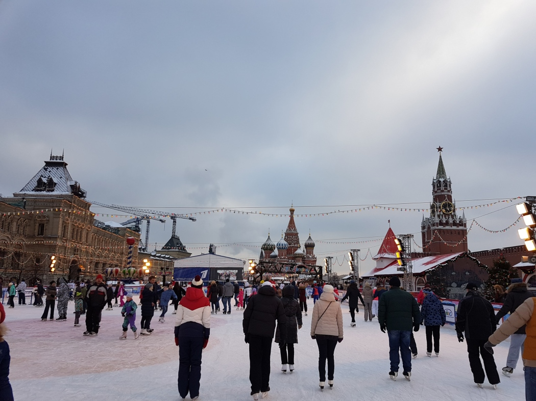 Moscow ice skating rink