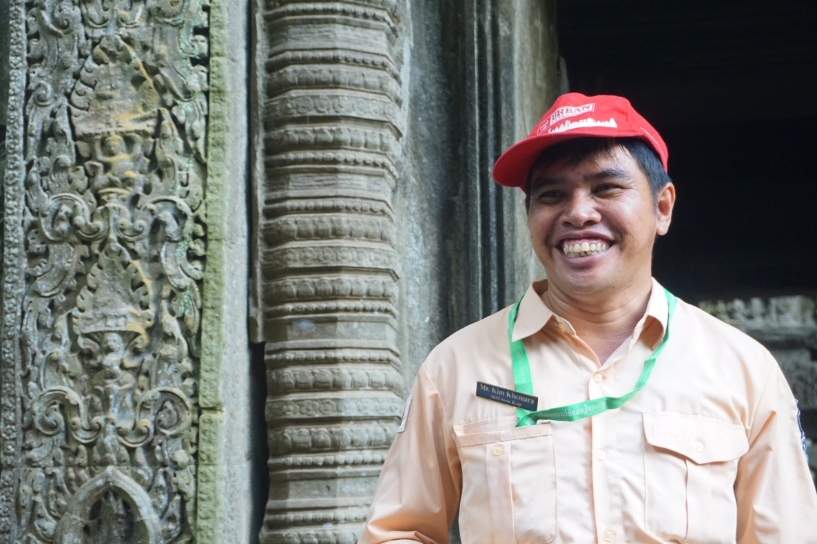 Khmer Buddhist monk now tour guide at Angkor Wat