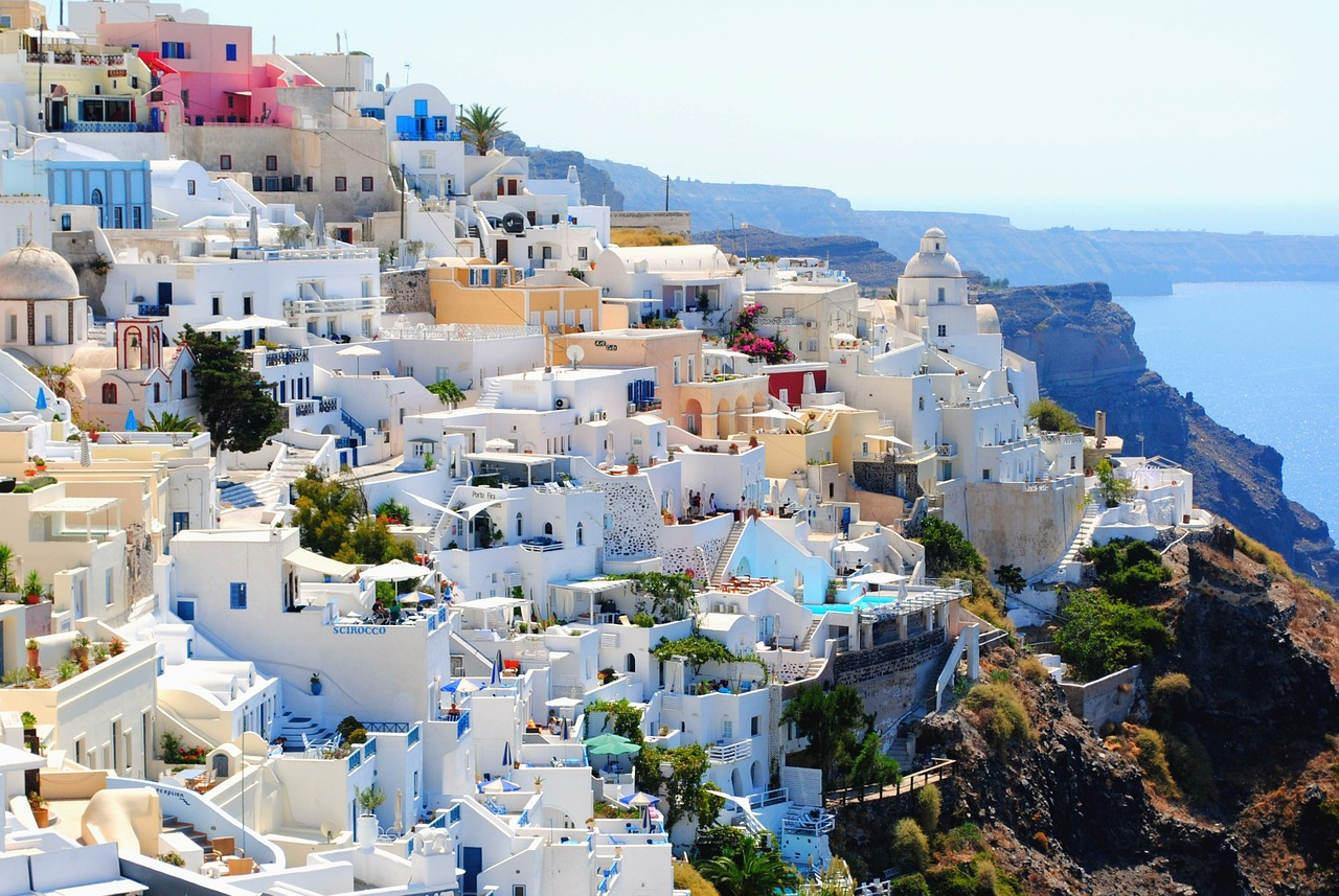 The beautiful island of Santorini