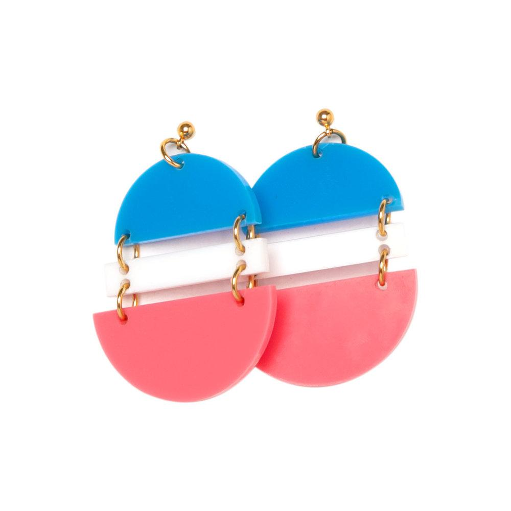 Trans Flag earrings