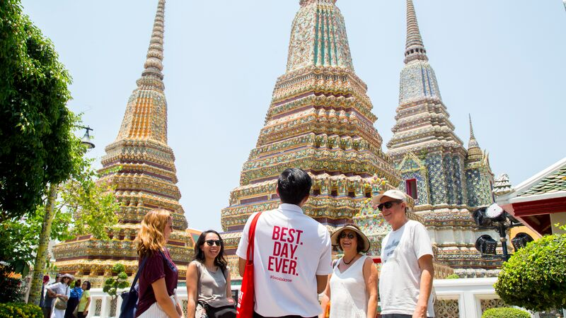 The incredible stupas of Wat Pho. Visit them on Urban Adventures' Tuk Tuk Experience tour. Photo credit: Bangkok Urban Adventures