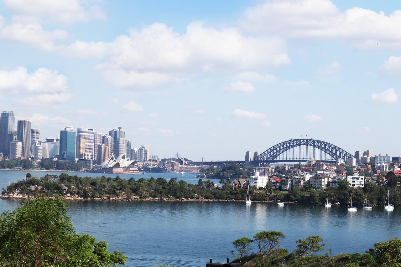 Sydney skyline view