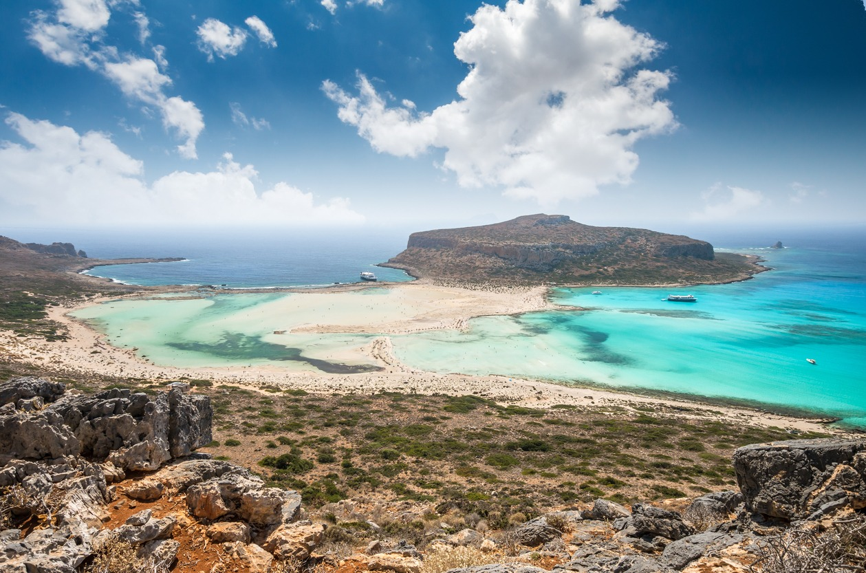 The stunning Balos Lagoon, perfect for snorkelling, bird watching and general zen. Photo credit: Crete Urban Adventures