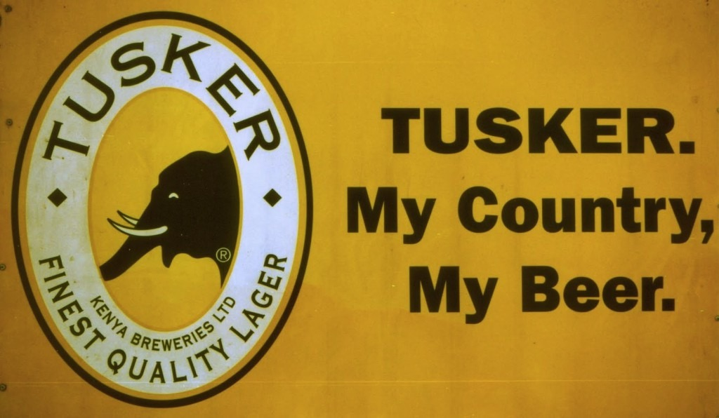 Tusker Beer logo and slogan
