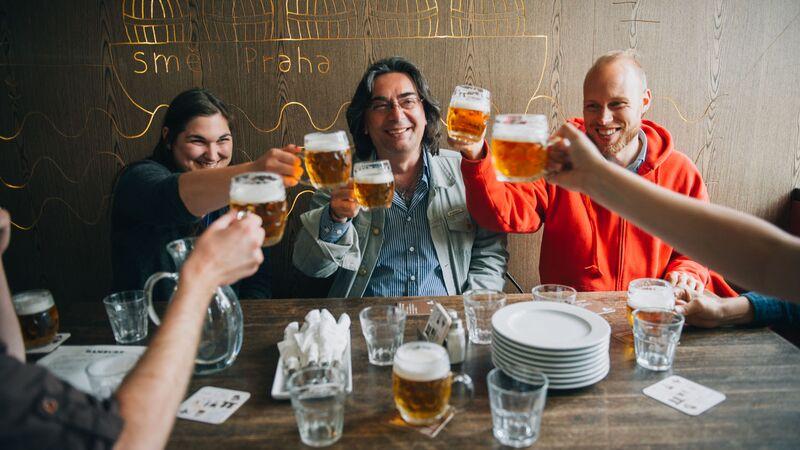 Prague Beer tour cheers