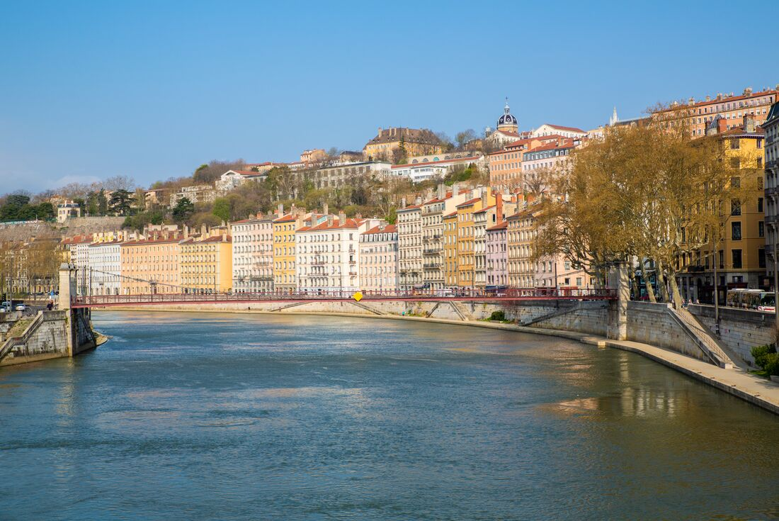 Lyon river view