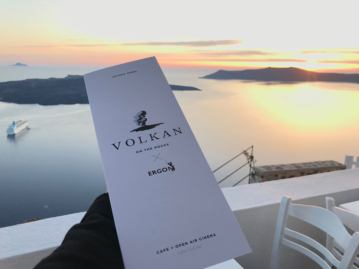 Volkan on the Rocks Restaurant, Santorini, Greece