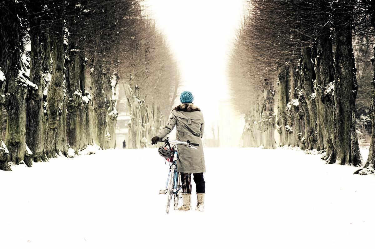 Copenhagen cycling in winter