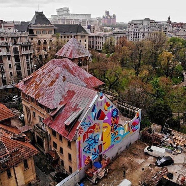 Bucharest street art mural