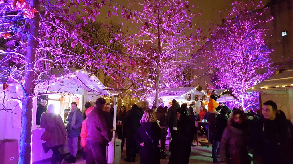 Zagreb Christmas market by night