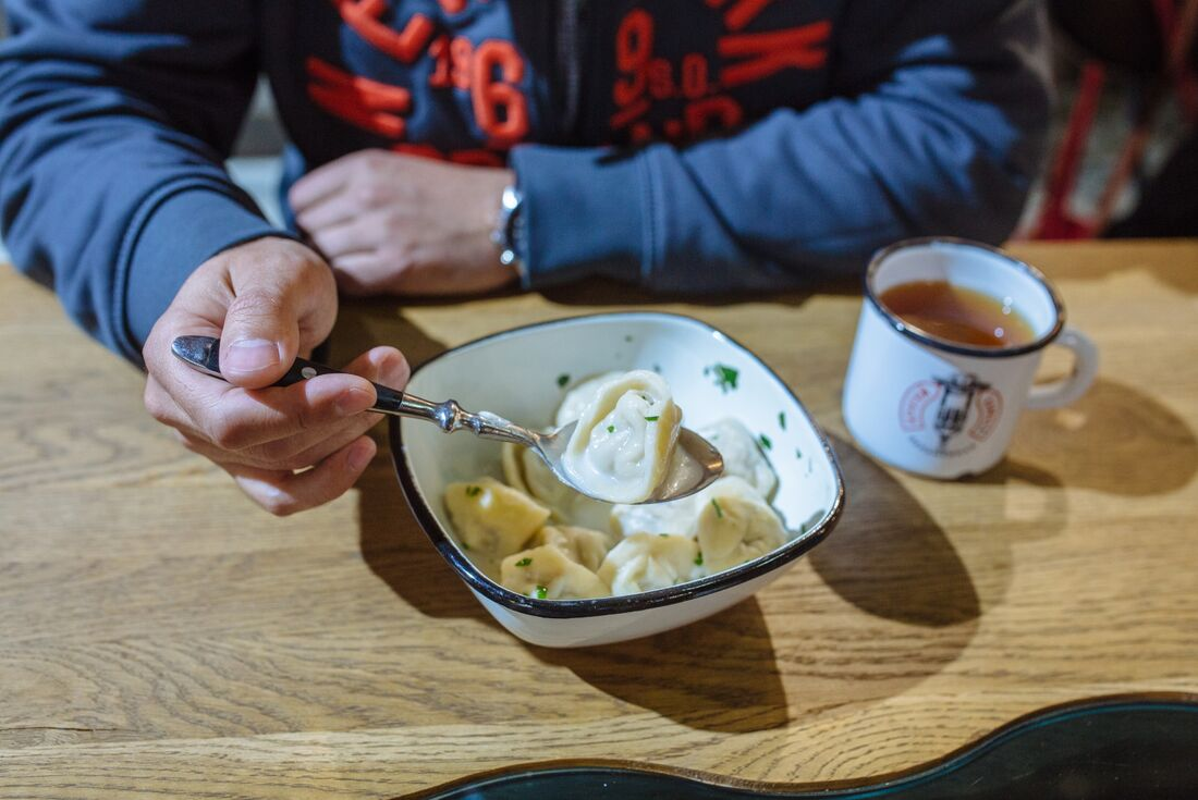 Pelmeni dumblings Irkutsk