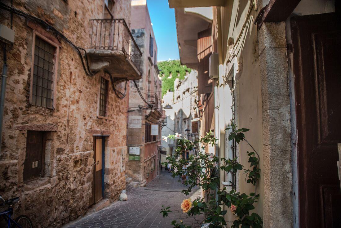 Winding street Crete