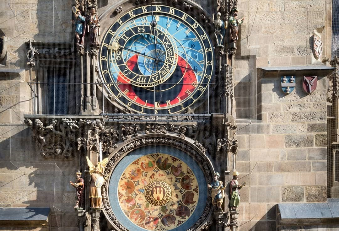 large, artistic clock